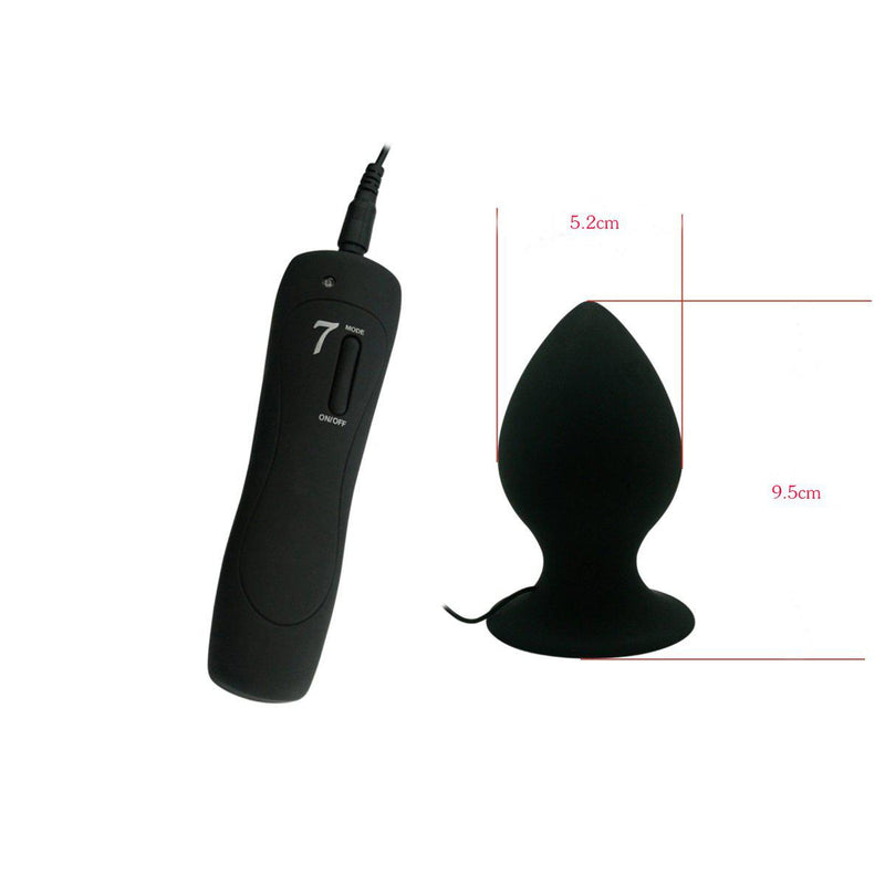 Lrg Vibrating Anal Plug 7 Mode Vibrating-TPLUG-The Love Zone