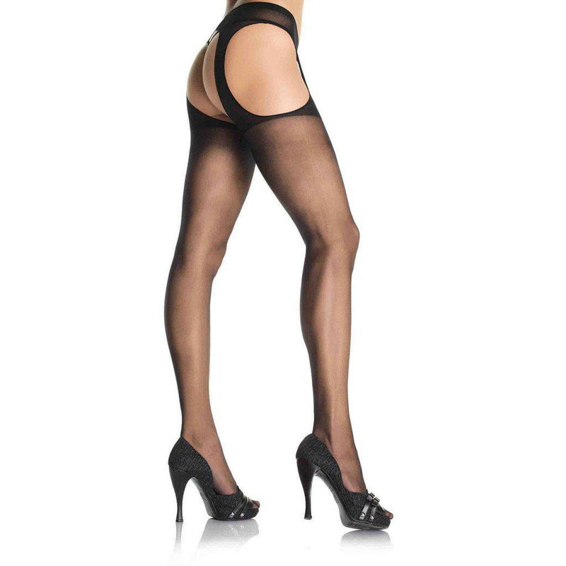 Stockings Sheer Suspender Pantyhose-Lingerie-The Love Zone