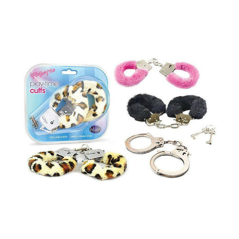 Handcuffs - Love Cuffs Furry - Black Playtime