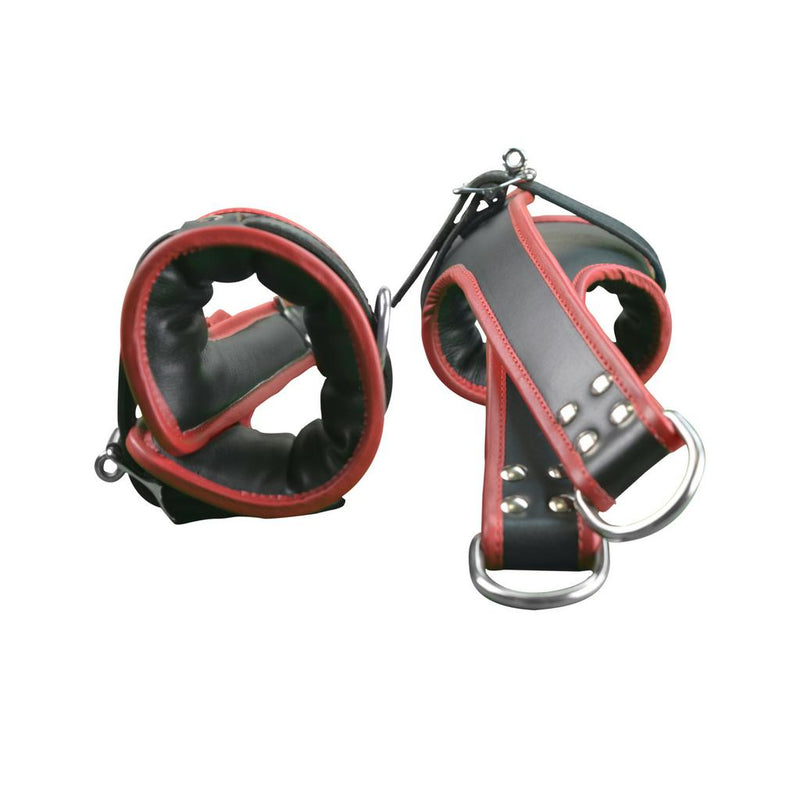 Cuff Suspension - Leather Heavy Duty Bondage Cuffs for Hands or Feet-FBOND-The Love Zone