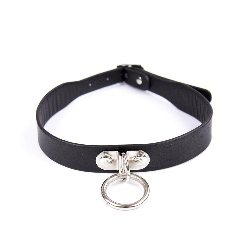 Collar - Black with D Ring-FET-The Love Zone