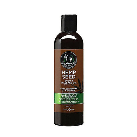 Earthly Body Massage Oil - 8 oz Naked in the Woods