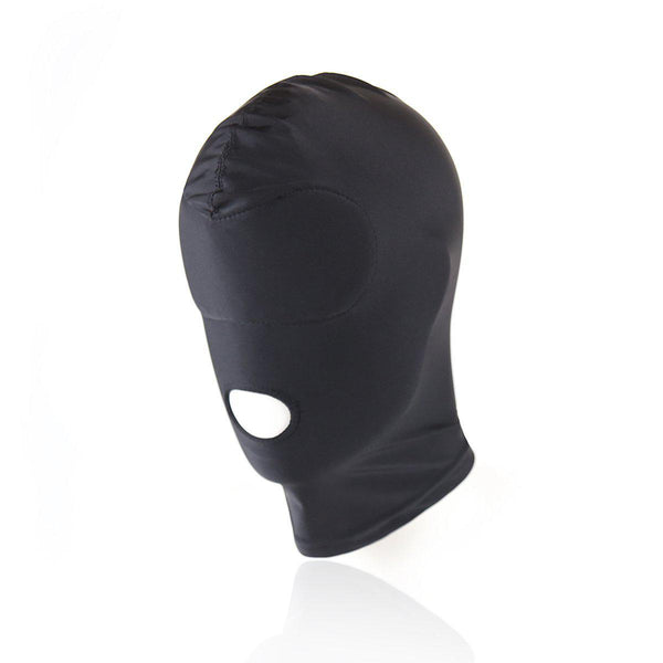 Hood Mask - Spandex Open Mouth Deprivation Gimp Mask with Padded Eyes-FETW-The Love Zone
