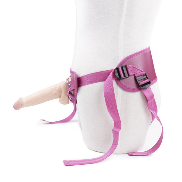 Strap On - Vegan Leather Harness - Pink-For Couples-The Love Zone