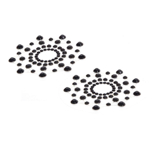 Pasties Mimi Pasties Black Rhinestone-PASTI-The Love Zone