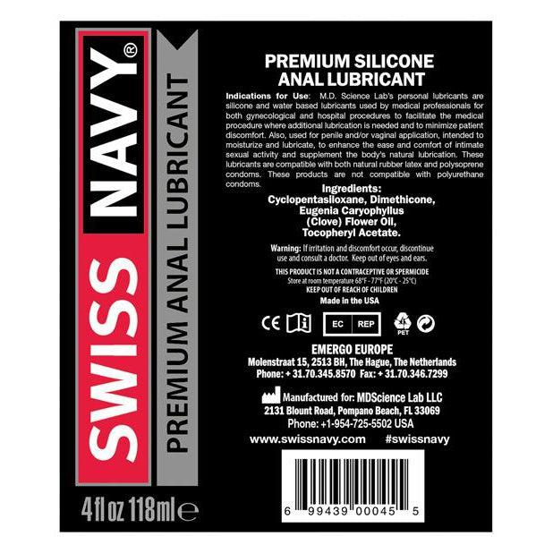2oz Anal Silicone Lube Swiss Navy-FLAV-The Love Zone