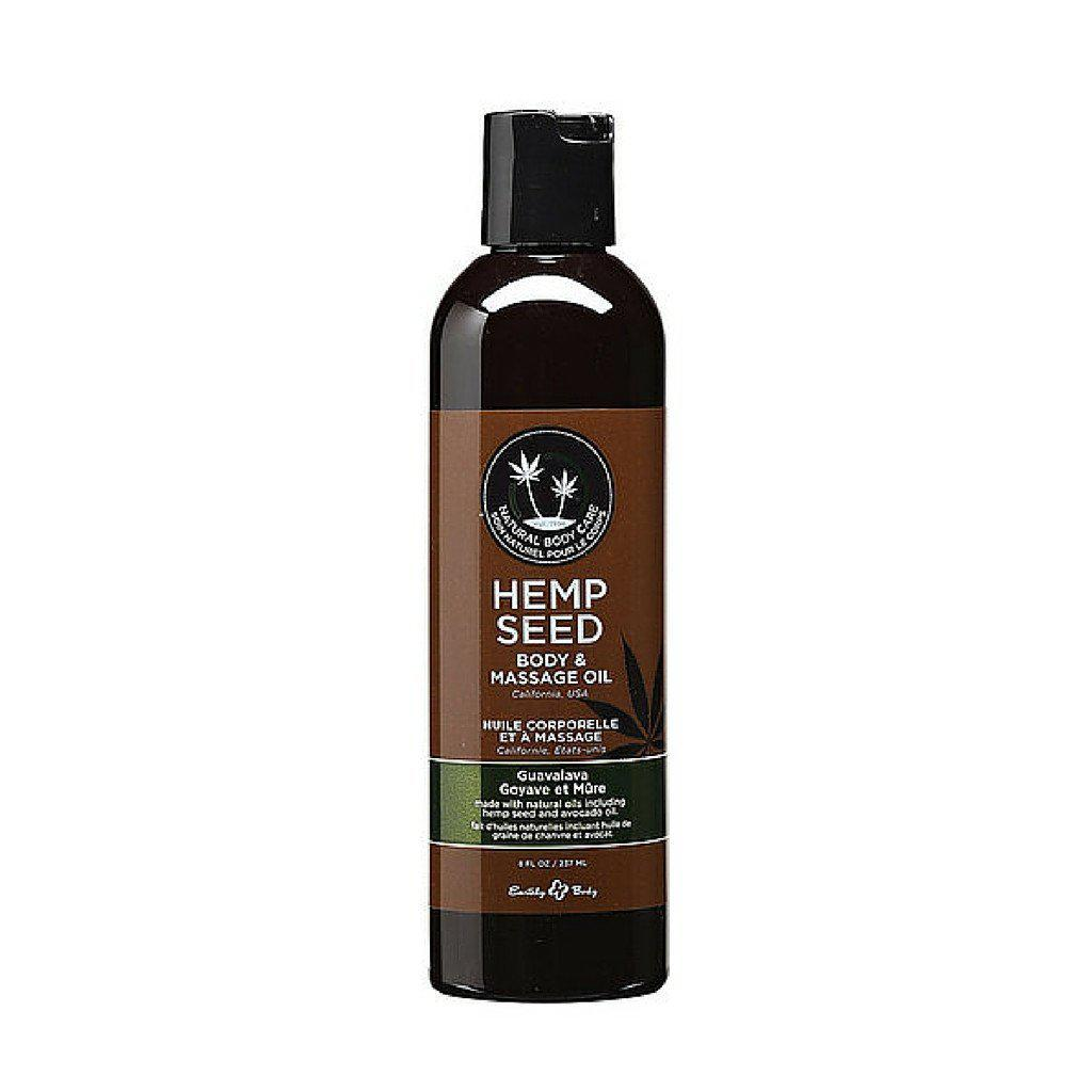 Lube - Earthly Body Massage Oil - 8 oz Guavalava