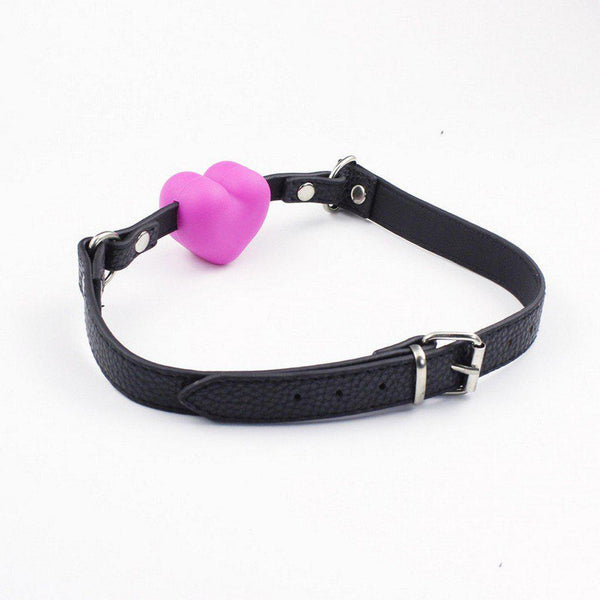 Ball Gag - Pink Silicone Heart-FBOND-The Love Zone