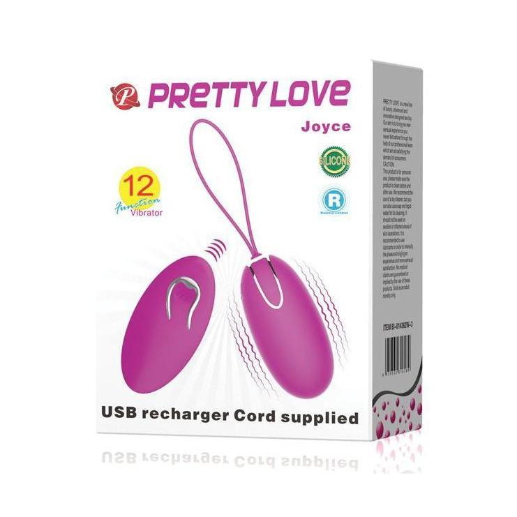 Vibrator Mini - Egg Style Joyce Rechargeable Egg with Remote Control - Fuchsia-TEGG-The Love Zone