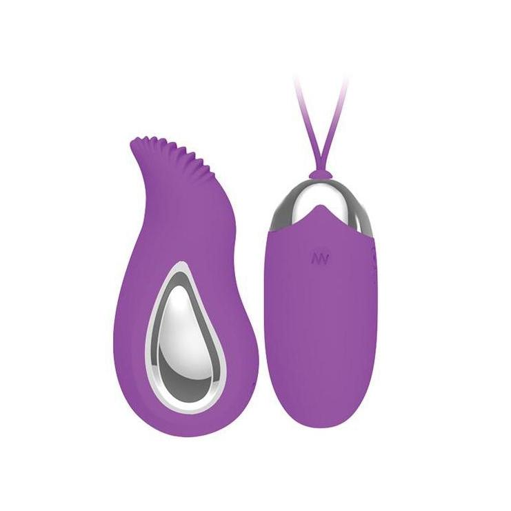 Vibrator Mini - Bullet Style Eden Remote Control Bullet - Purple-The Love Zone