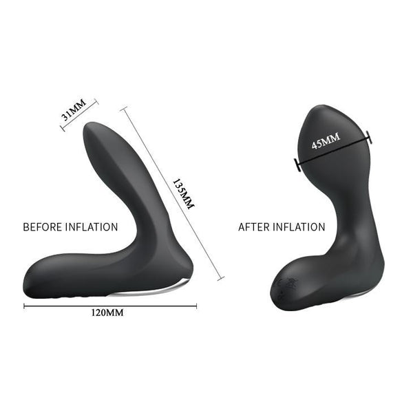 Prostate Massager - Inflatable & Vibrating 12 Function Inflatable Prostate Stimulator