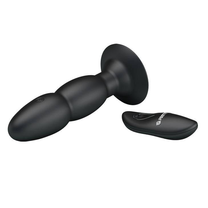 Butt Plug Rimming - Beaded Vibrating Remote-Control Anal Plug-TPLUG-The Love Zone