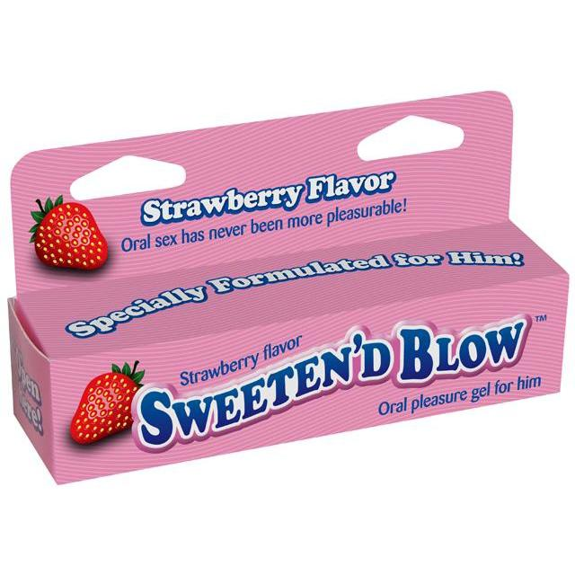 Arousal Oral - Sweeten' D Blow Strawberry Flavored Oral Pleasure Gel-LOT-The Love Zone