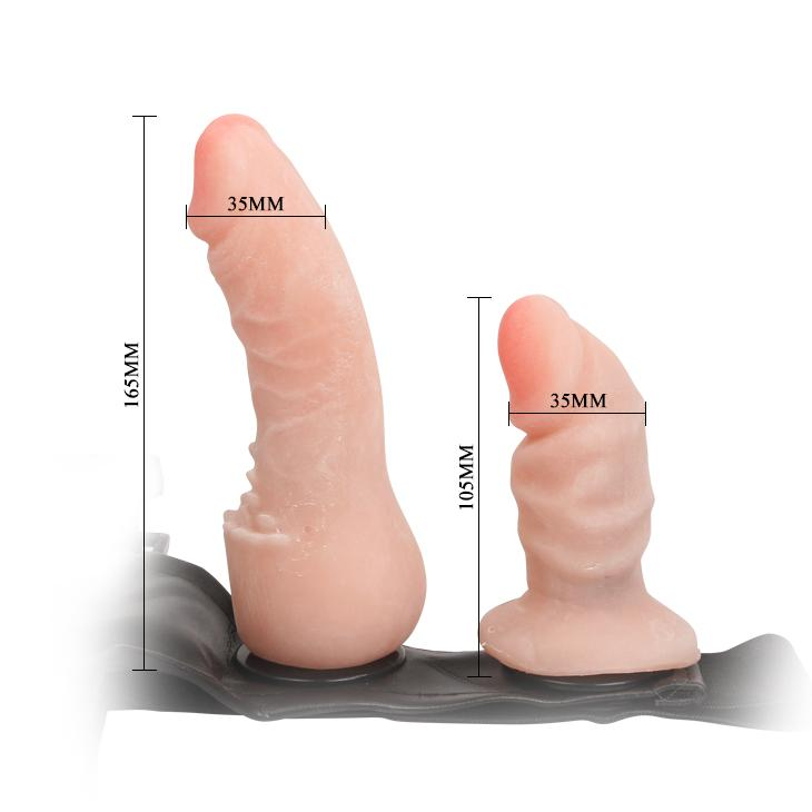 Strap On - Adjustable with Dildo and Vaginal Plug-TSTRA-The Love Zone