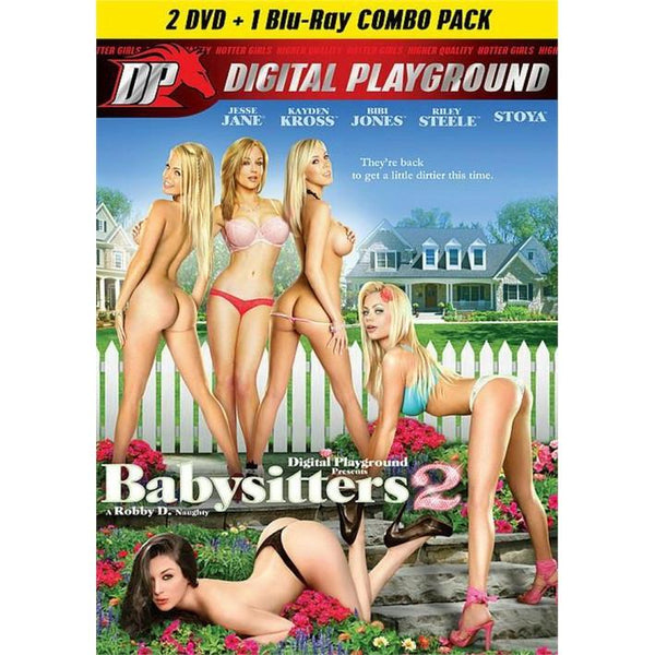 Adult Movie - Babysitters #2 - 2 DVD + 1 Blu-Ray Combo Pack