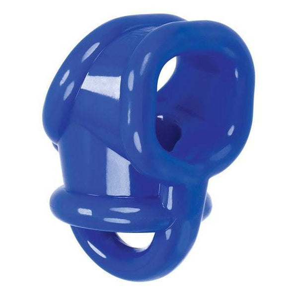 Cock Ring - Ballsling Ball Spiltting Oxballs Cocksling - Solid Blue-The Love Zone