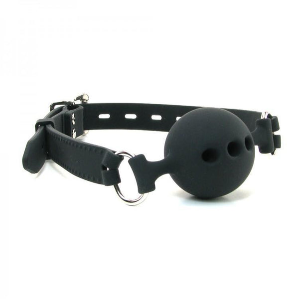 Ball Gag - Breathable Silicone Small - Black-Fetish/Bondage-The Love Zone