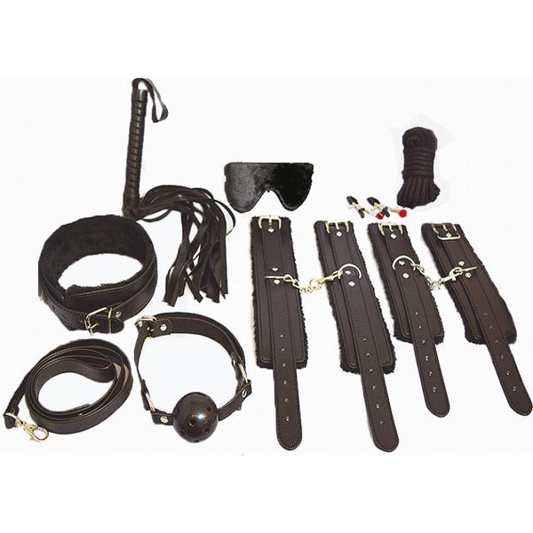 Bondage Kit - Everything Bondage Kit 12 pcs. (Black)-FBOND-The Love Zone