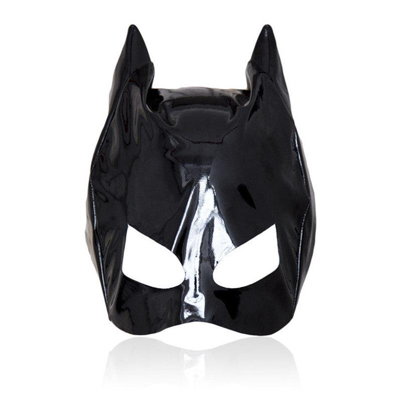 Mask - Shiny Black Cat Mask-Fetish/Bondage-The Love Zone