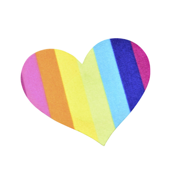 Pasties Rainbow Heart Shaped Nipple Cover Pasties 5 pairs of Disposable Breast Pastie Stickers-ACCES-The Love Zone