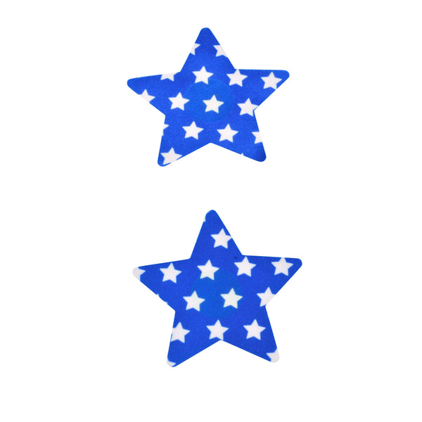 Pasties Blue Stars with White Stars 5 Pair-ACCES-The Love Zone