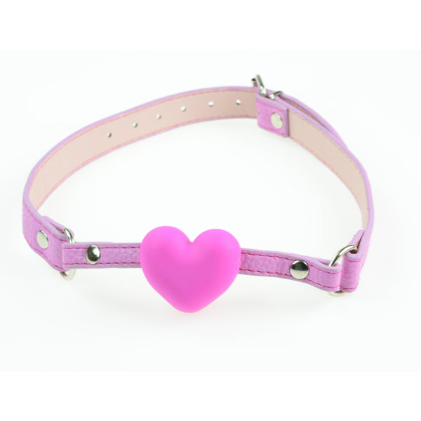Ball Gag - Pink Heart Ball Gag-FBOND-The Love Zone