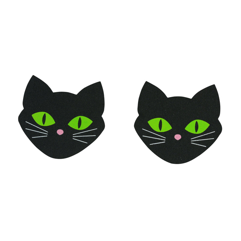 Pasties Cat Head Shaped Nipple Cover Pasties 5 pair of Disposable Breast Paistee Stickers-ACCES-The Love Zone