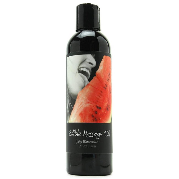 Massage - Earthly Body Hemp Edible Massage Oil - 8 oz Watermelon-MAS-The Love Zone