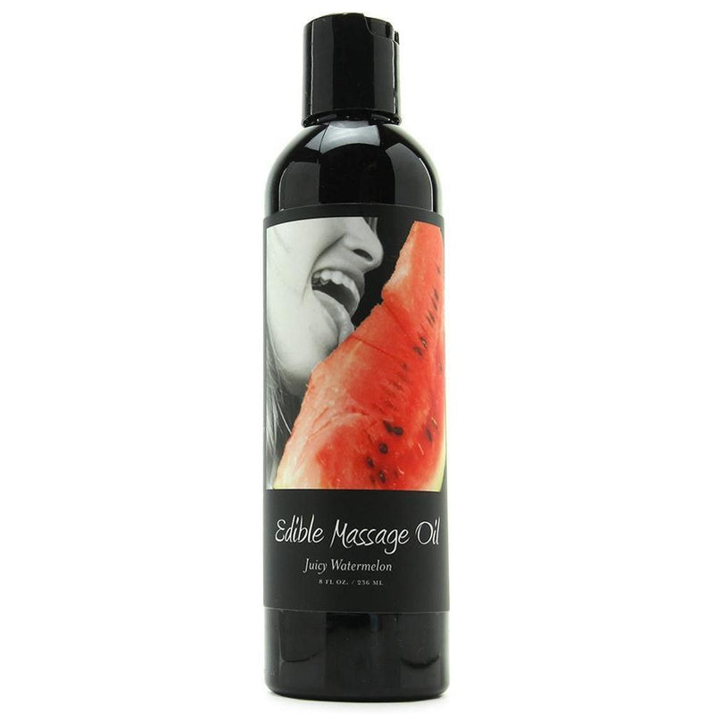 Massage - Earthly Body Hemp Edible Massage Oil - 8 oz Watermelon