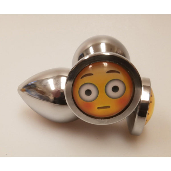 Butt Plug - Metal Emoji Anal Plug - Each Size has a Different Emotion-Anal-The Love Zone