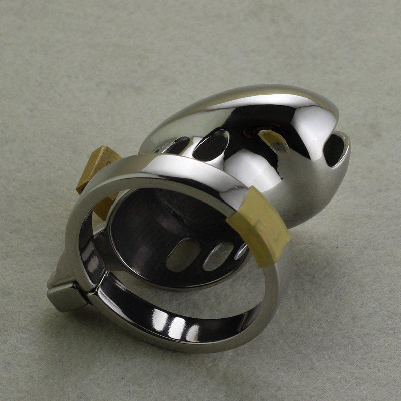 Chastity Cage - Men's Stainless Steel Short Style-FET-The Love Zone