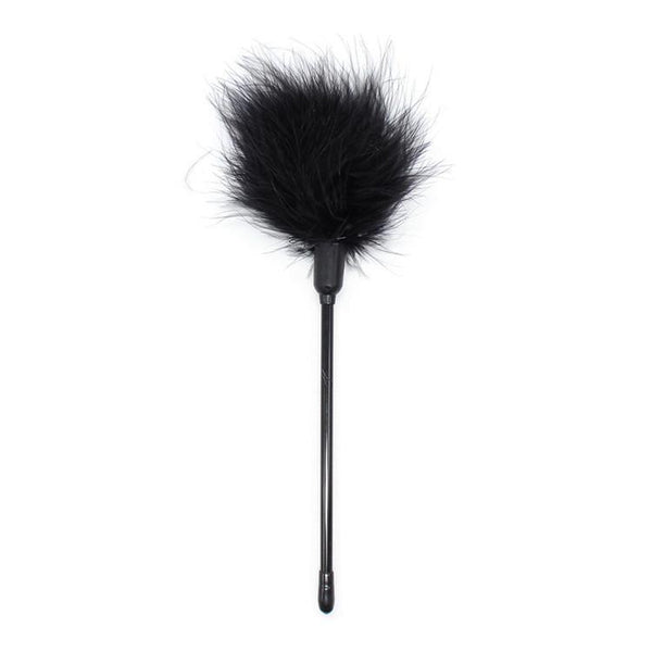 Tickler - Long Handled Black Feather Tickler-FET-The Love Zone