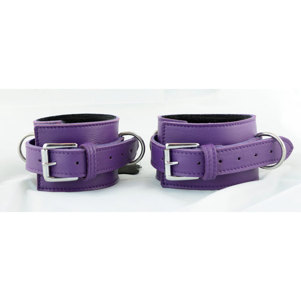Cuff - Ankle Purple with Fuzzy Lining-FBOND-The Love Zone