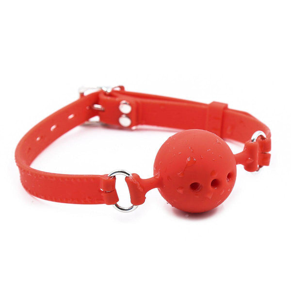 Ball Gag - Red Breathable Silicone - 3 Sizes Available-Fetish/Bondage-The Love Zone