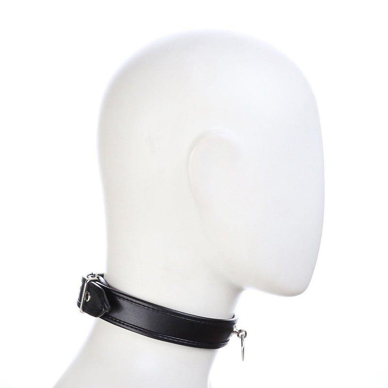 Collar - Heavy Duty Black PVC Collar-FET-The Love Zone