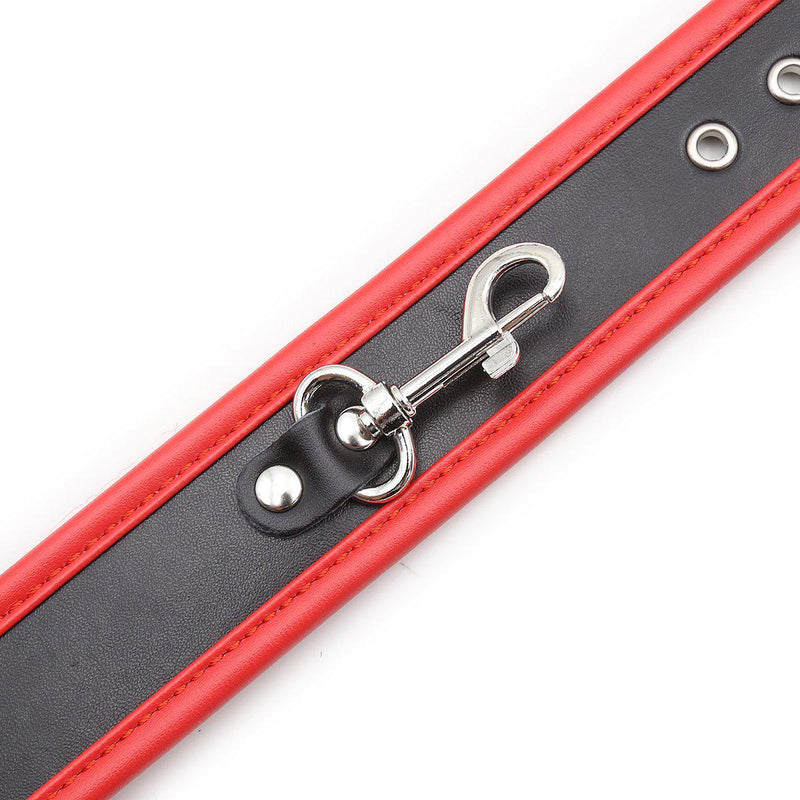 Bondage Kit - Heavy Duty Black with Red Piping PVC Bondage Kit with Chain - Online Special!-FBOND-The Love Zone