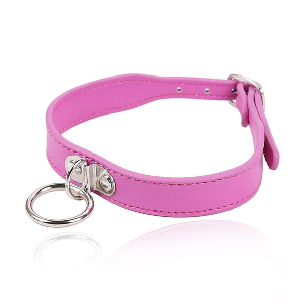 Collar - Pink with D Ring-FET-The Love Zone