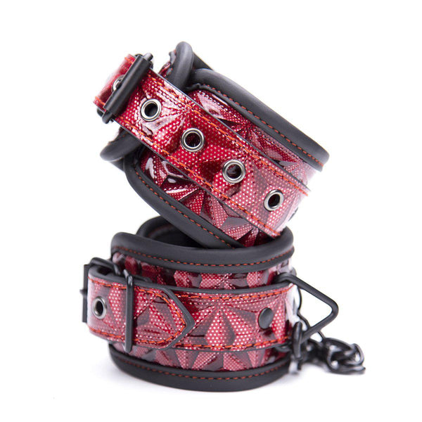 Cuff Wrist - Red Diamond Plate Design with Black Trim-FBOND-The Love Zone
