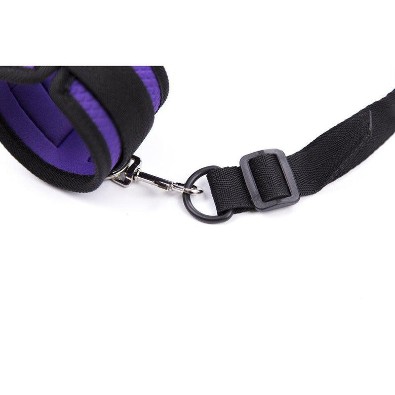 Bondage Kit - Neoprene Bed Cuff Kit Purple-BON-The Love Zone