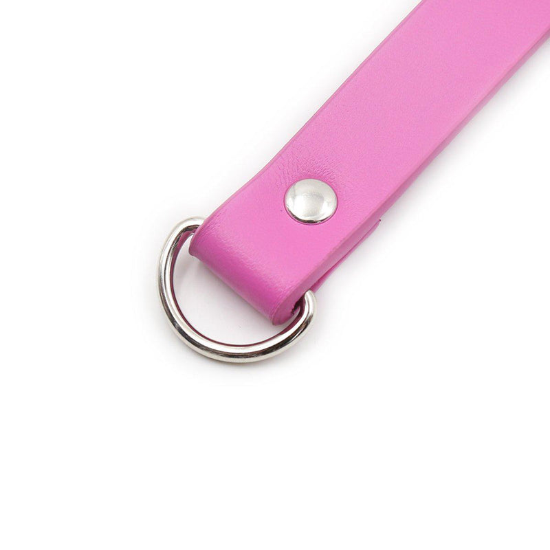 Collar - Lock Connector Pink Neck Collar with Key-FET-The Love Zone