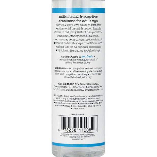 Toy & Body Cleaner - Jelique Mighty Tidy 8 oz in Get Fresh-The Love Zone