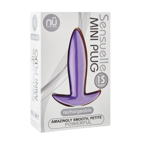 Butt Plug Vibrating - Sensuelle Mini Butt Plug - Purple