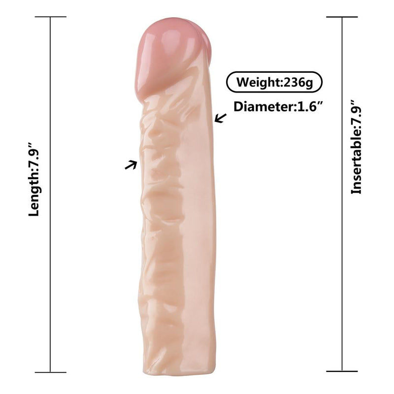 "Dildo - 8"" x 1-5/8"" Jelly Dong-TDONG-The Love Zone"