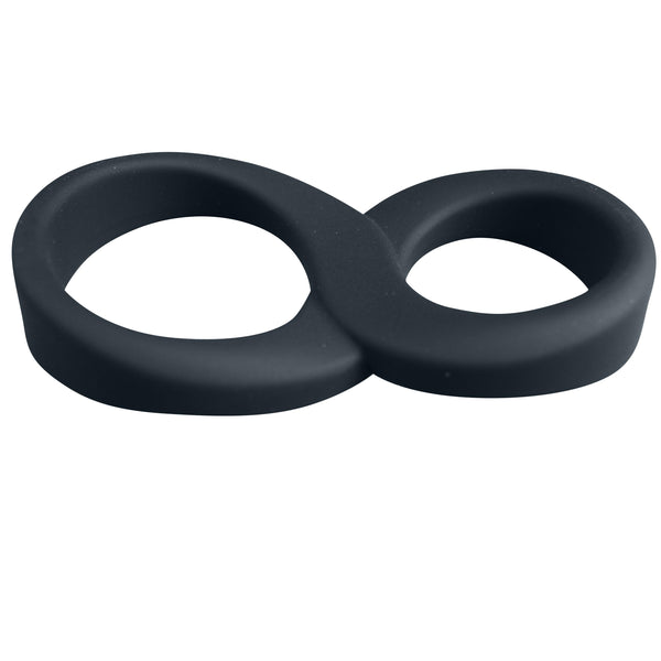 Cock Ring - 8 Ball Silicone Penis & Testicles Ring-For Him-The Love Zone