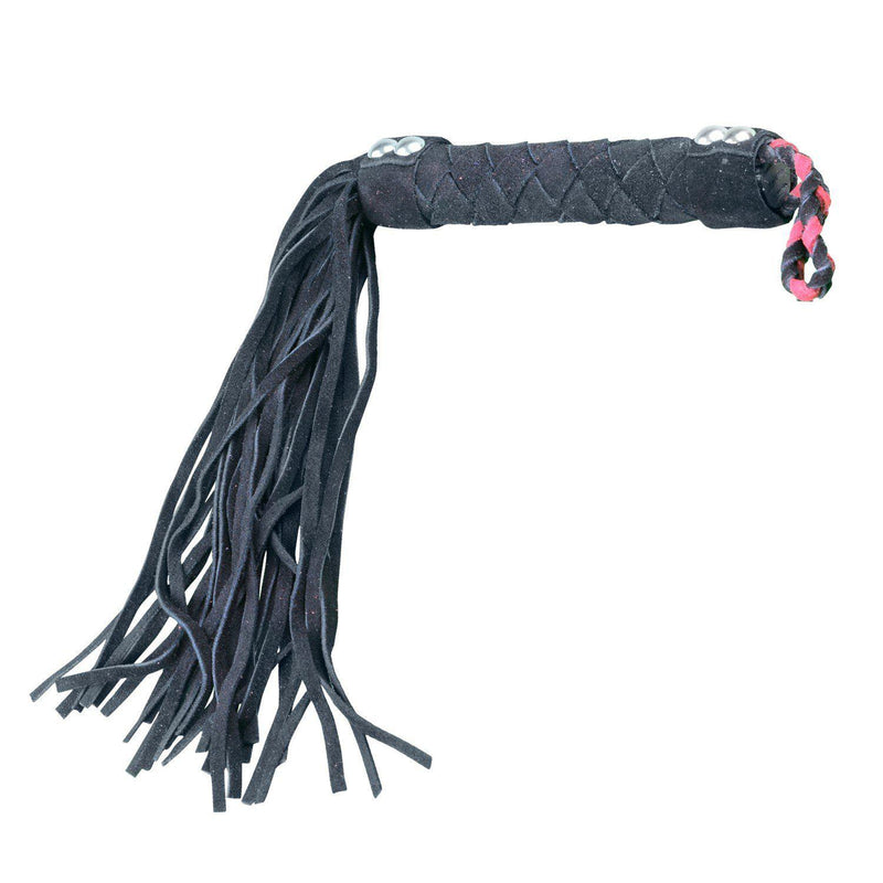 "Whip - Leather 15.5"" Black Flogger-FET-The Love Zone"