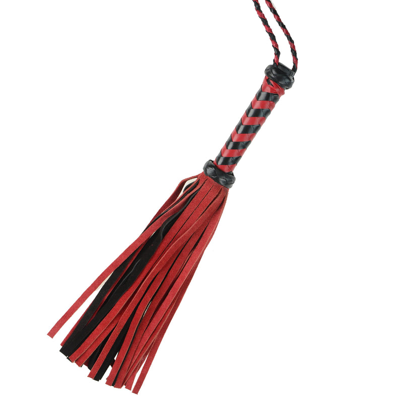 "Whip - Leather 18"" Suede Mini 36 Tail Red Flogger-Fetish/Bondage-The Love Zone"