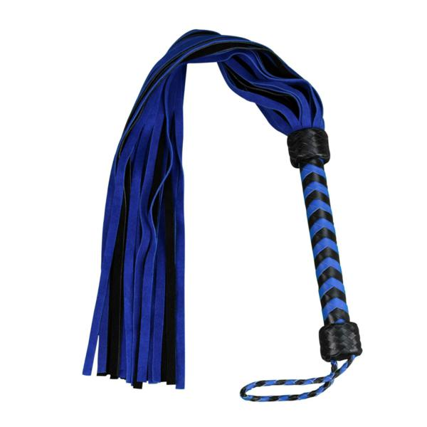 "Whip - Leather 18"" Suede Mini 36 Tail Blue Flogger-FET-The Love Zone"