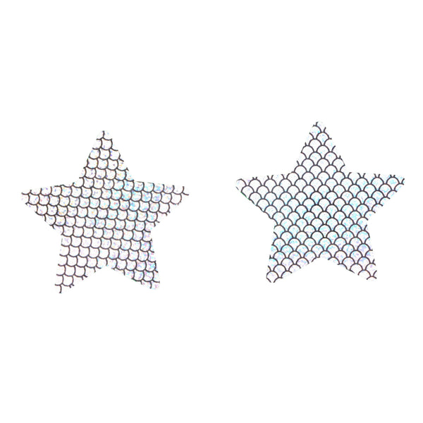 Pasties Star Hologram Silver Pasties 5 pack Nipple covers-ACCES-The Love Zone