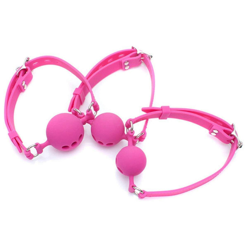 Ball Gag - Breathable Silicone Small - Pink-Fetish/Bondage-The Love Zone