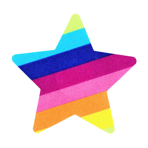 Pasties Rainbow Star Shaped Nipple Cover Pasties 5 pairs of Disposable Breast Paistee Stickers Great for Pride-Nipple Covers-The Love Zone